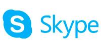 Logomarca Skype, uma plataforma para reuniões online