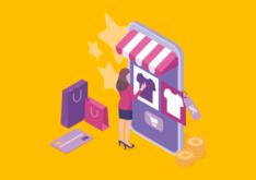 mulher fazendo compra em loja virtual